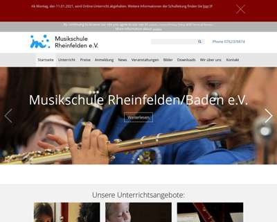 Screenshot (small) http://www.musikschule-rheinfelden.de
