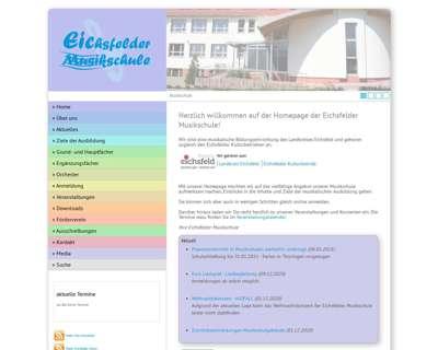 Screenshot (small) http://www.eichsfelder-musikschule.de