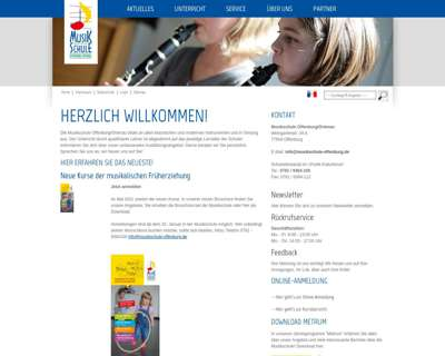 Screenshot (small) http://www.musikschule-offenburg-ortenau.de