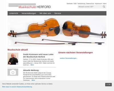 Screenshot (small) http://www.musikschule.herford.de