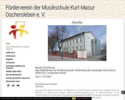 Screenshot (small) http://www.musikschule-oschersleben.de