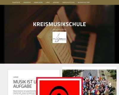 Screenshot (small) http://www.kreismusikschule-dreilaendereck.de