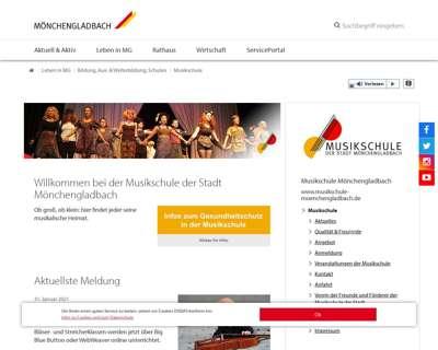 Screenshot (small) http://www.musikschule-moenchengladbach.de