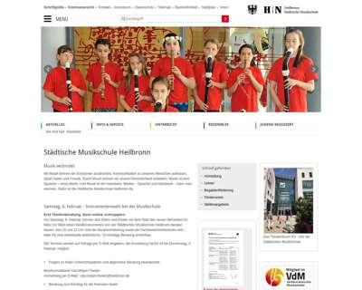 Screenshot (small) http://www.musikschule-heilbronn.de