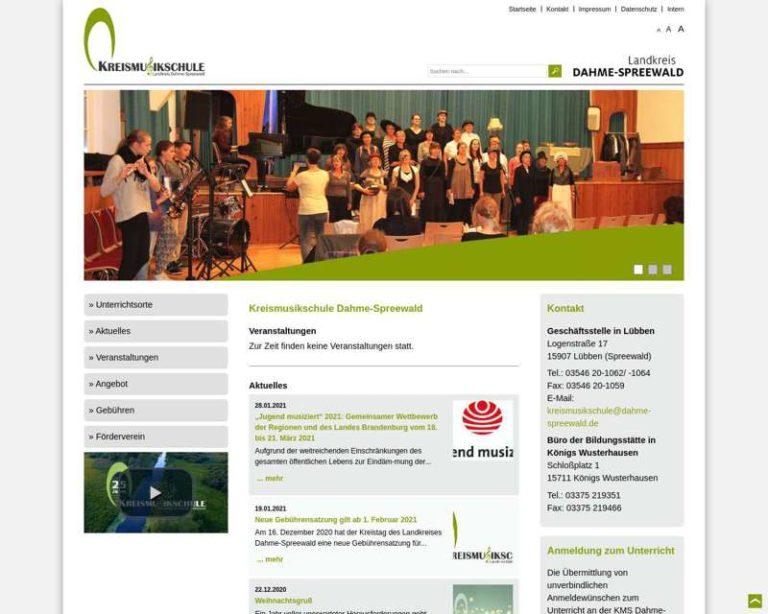 Screenshot (middle) http://www.kms.dahme-spreewald.de