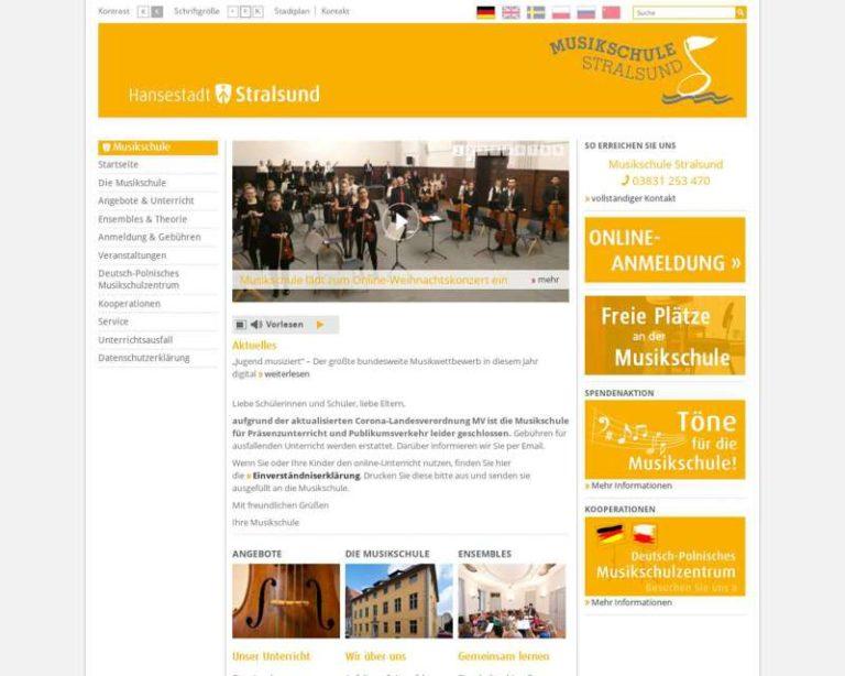 Screenshot (middle) http://www.stralsund.de/musikschule