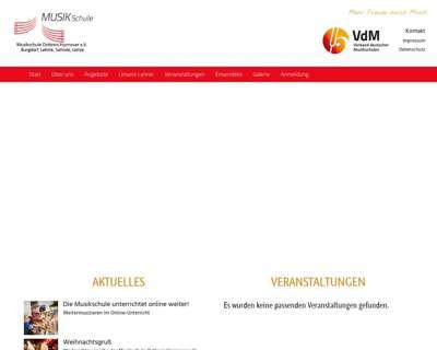 Screenshot (small) http://www.musikschule-ostkreis.de